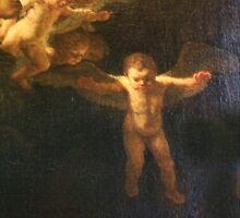 Angel, Naked, Cherub, with wings, Church, St Petersburg Russia.  by TOM HILL - Designer