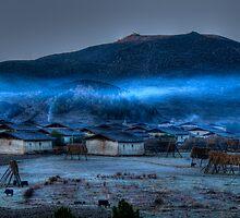 Break of Dawn at Tibetan Village by Susan Dost