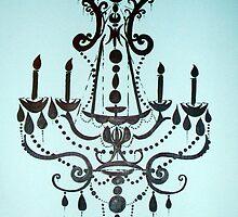 Tiffany Blue Chandelier by lauraelizabethm