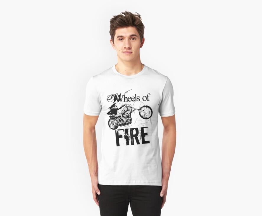 Wheels of Fire Biker T-Shirt by jay007