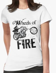 Wheels of Fire Biker T-Shirt Womens Fitted T-Shirt