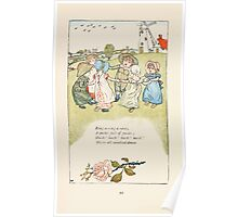 Mother Goose or the Old Nursery Rhymes by Kate Greenaway 1881 0056 Ring a ring a roses Poster