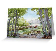 Afon Llugwy Greeting Card