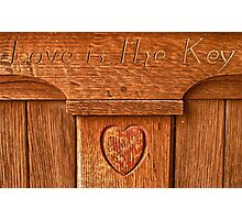 Love is the Key Photographic Print