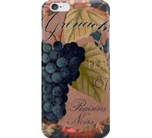 Wines of France Grenache iPhone Case/Skin