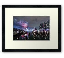 Winter Fireworks Framed Print