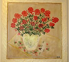 Acrylic-  Red roses for you by haya1812