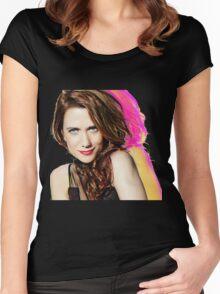 Kristen Wiig SNL Portrait Women's Fitted Scoop T-Shirt