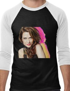 Kristen Wiig SNL Portrait Men's Baseball ¾ T-Shirt