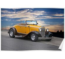 1930 Ford Model A 'Rumble Seat' Roadster Poster