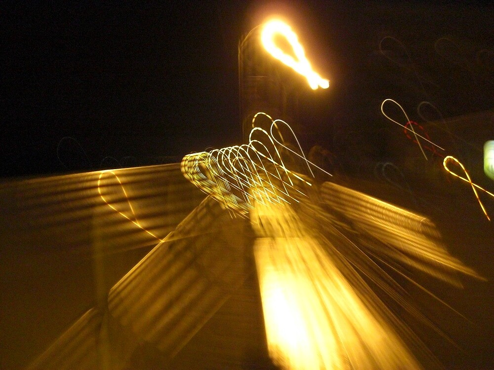 Ribbons in Street Lights  by Manonthemoon
