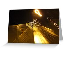 Ribbons in Street Lights  Greeting Card