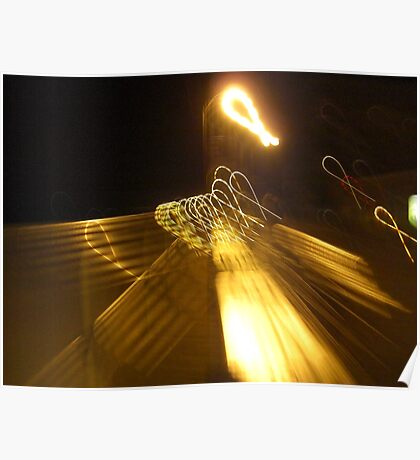Ribbons in Street Lights  Poster