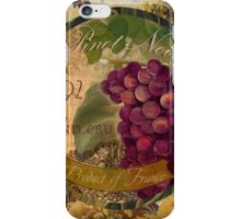 Wines of France Pinot Noir iPhone Case/Skin