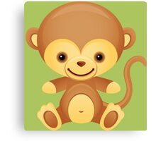 Cute little monkey Canvas Print