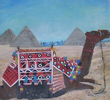 The pyramids of Gyza, Egypt by Teresa Dominici
