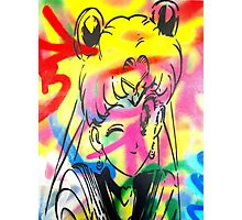 Graffiti Sailor Moon Photographic Print