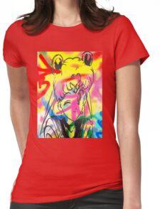 Graffiti Sailor Moon Womens Fitted T-Shirt