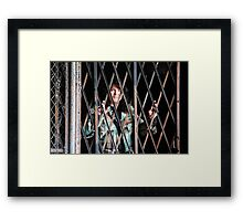 Arrested for Trespassing! Framed Print