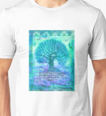 Rumi Friendship Peace Quote with tree art Unisex T-Shirt
