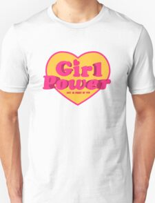 Girl Power Heart Shaped Typographic Design Quote Unisex T-Shirt
