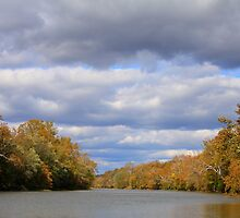 Fall On The River - Little Miami, Fosters Ohio by Tony Wilder