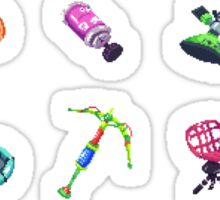 Splatoon Sub Weapons Pixels Sticker