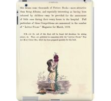 The Little Folks Painting book by George Weatherly and Kate Greenaway 0123 iPad Case/Skin