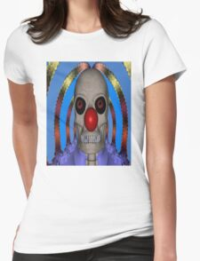 Skeleton Clown Womens Fitted T-Shirt