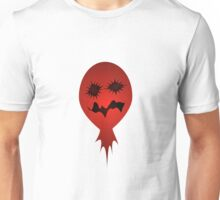 Evil Face Vector Illustration Unisex T-Shirt