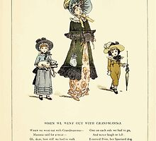 Marigold Garden Pictures and Rhymes Kate Grenaway 1900 0015 We Went Out With Grandma by wetdryvac