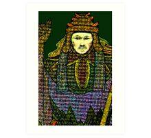 HIEROPHANT TAROT CARD INSPIRED DESIGN BY LIZ LOZ Art Print