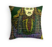 HIEROPHANT TAROT CARD INSPIRED DESIGN BY LIZ LOZ Throw Pillow