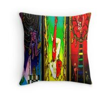 THREEFOLD OF ARCANA BY LIZ LOZ Throw Pillow