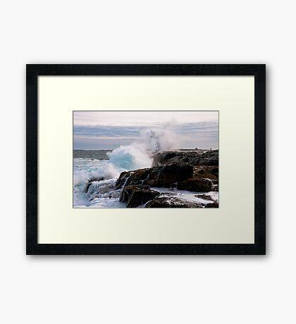 Nor' Easter on Ocean Point, Maine Framed Print