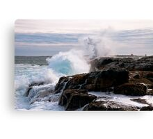 Nor' Easter on Ocean Point, Maine Canvas Print