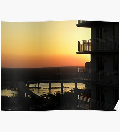 "Intracoastal ""Halifax River"" Sunset Poster"