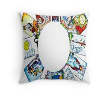 CIRCLE OF TAROT BY LIZ LOZ Throw Pillow