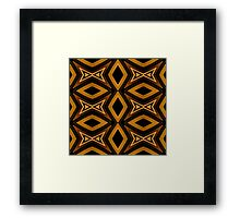 Tribal Diamonds Pattern Brown Colors Abstract Design Framed Print