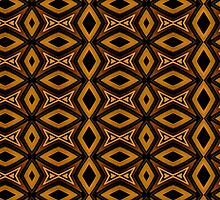 Tribal Diamonds Pattern Brown Colors Abstract Design by DFLC Prints