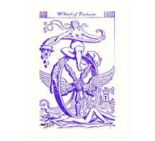 WHEEL OF FORTUNE TAROT CARD DESIGN BY LIZ LOZ Art Print