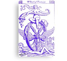WHEEL OF FORTUNE TAROT CARD DESIGN BY LIZ LOZ Metal Print