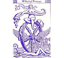 WHEEL OF FORTUNE TAROT CARD DESIGN BY LIZ LOZ Photographic Print