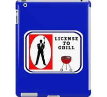License to grill geek funny nerd iPad Case/Skin
