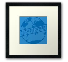 Team Discovery Logo - Blue Framed Print