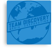 Team Discovery Logo - Blue Canvas Print