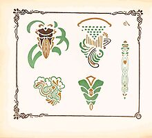 Maurice Verneuil Georges Auriol Alphonse Mucha Art Deco Nouveau Patterns Combinaisons Ornementalis 0032 by wetdryvac