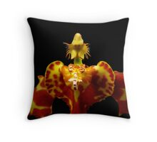 The Warrior II - A new perspective on Orchid Life Throw Pillow
