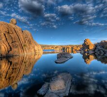 Rocks and Water and Clouds...Oh my by Bob Larson
