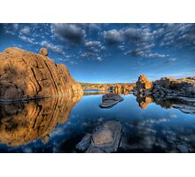 Rocks and Water and Clouds...Oh my Photographic Print